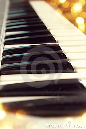 Free Piano Keys Close Up Stock Image - 19888681