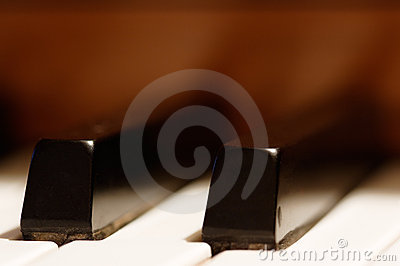 Piano Keys - shallow focus