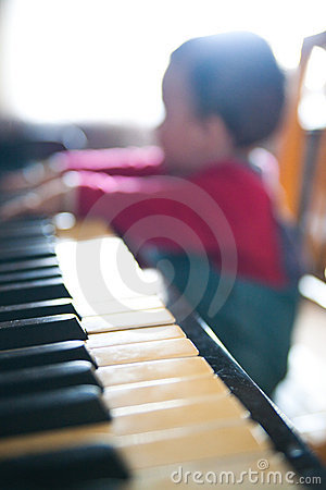 Piano playing baby