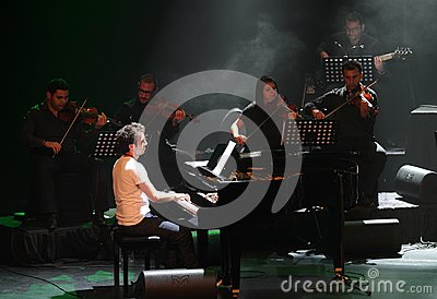 Piano Pop Zade Dirani performs at Bahrain, 2/10/12 Editorial Photography