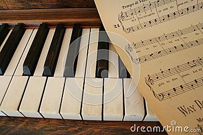 Piano and sheet music