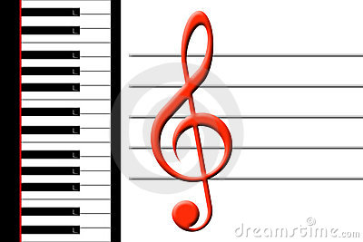 Piano and treble clef