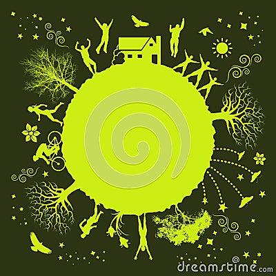 Pianta verde Funky
