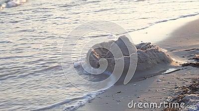 Piaska kasztel na plaży zdjęcie wideo