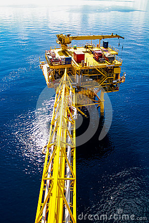 Piattaforma del gas e del petrolio
