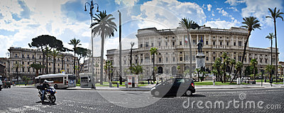 Piazza Cavour, Rome Editorial Photo