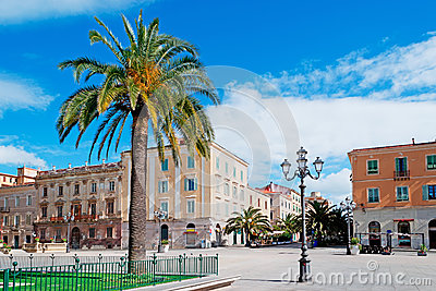 Piazza d Italia and palm