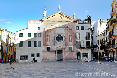 Piazza dei Signori and Church of San Cleme Editorial Image