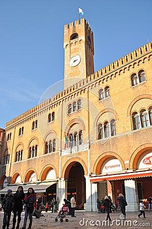 Piazza dei Signori di Treviso Editorial Stock Photo