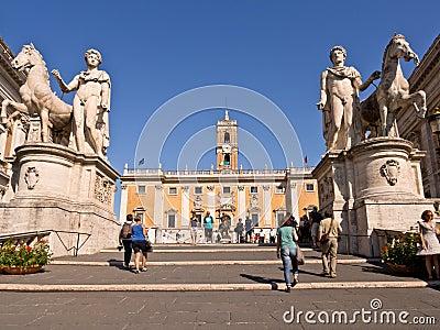 Piazza del Campidoglio Rome Italy Editorial Stock Image