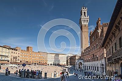 Piazza del Campo Editorial Photography