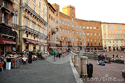 Piazza del Campo in Siena (Italy) Editorial Photo