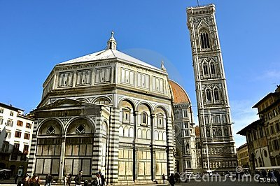 Iconic urban landscape: Piazza del Duomo in Florence, Italy Editorial Photography