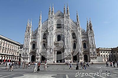Piazza del Duomo, Milan Editorial Image