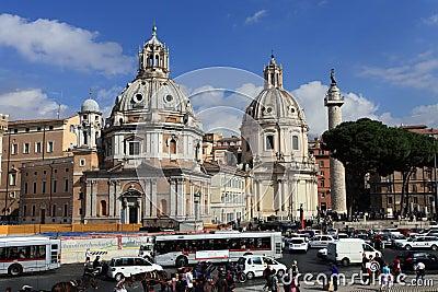 Piazza del Popolo.Rome Editorial Photo
