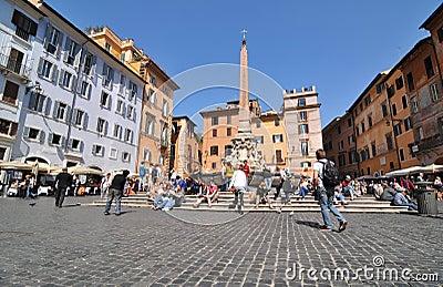 Piazza della Rotonda, Rome Editorial Stock Photo