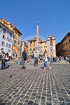 Piazza della Rotonda, Rome Editorial Photo