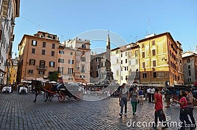 Piazza della Rotonda, Rome Editorial Image