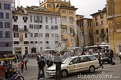 Piazza della Rotonda street scene Editorial Photography
