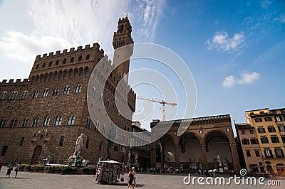 Piazza della Signoria Editorial Stock Photo