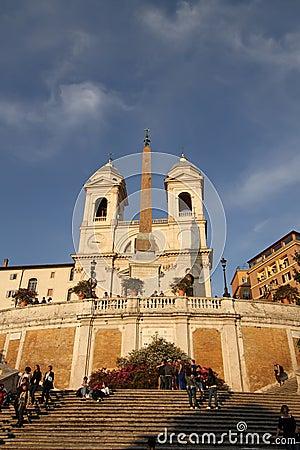 Piazza di Spagna Editorial Stock Photo