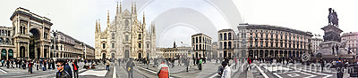 Piazza Duomo in Milan Editorial Photography