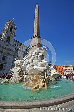 Piazza Navona Redactionele Foto