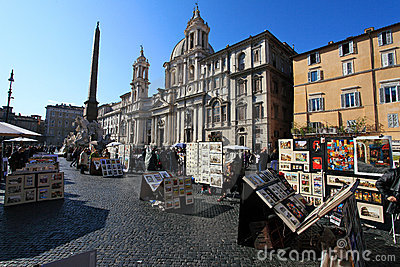 Piazza Navona Editorial Photo