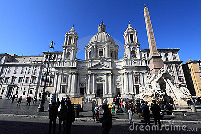 Piazza Navona Editorial Stock Image