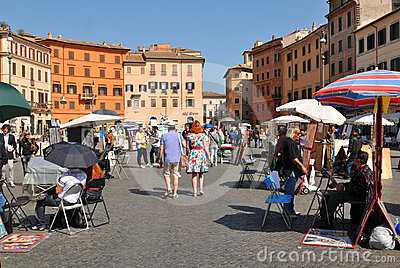 Piazza Navona, Rome Editorial Photo