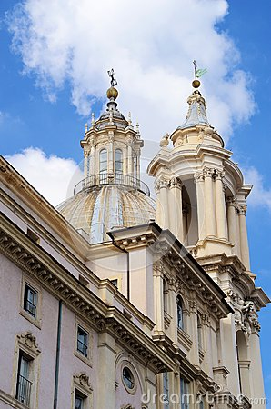 Sant Agnese church in Piazza Navona Rome