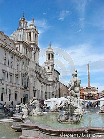 Piazza Navona, Rome Editorial Image