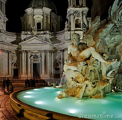 The Piazza Navona, Rome, Italy