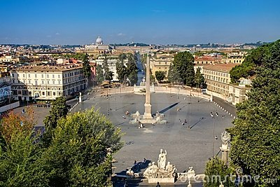 The Piazza  Popolo