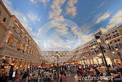 The Piazza San Marco replica in Venetian Hotel Editorial Photo