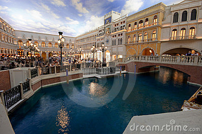 The Piazza San Marco replica in Venetian Hotel Editorial Image