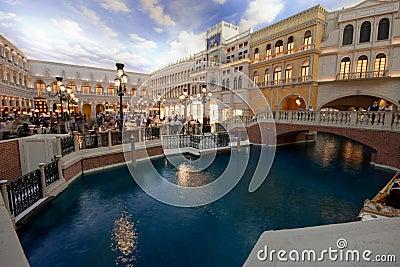 The Piazza San Marco replica in Venetian Hotel Editorial Image