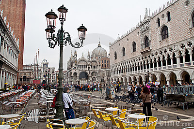 Piazza San Marco in Venice Editorial Stock Photo