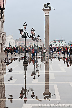 Piazza San Marco Venice Editorial Stock Image