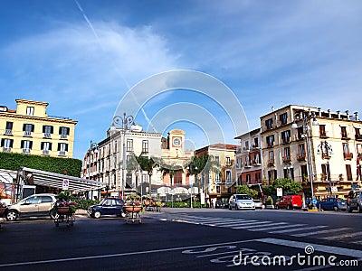 Piazza Tasso, Sorrento, Italy Editorial Photo