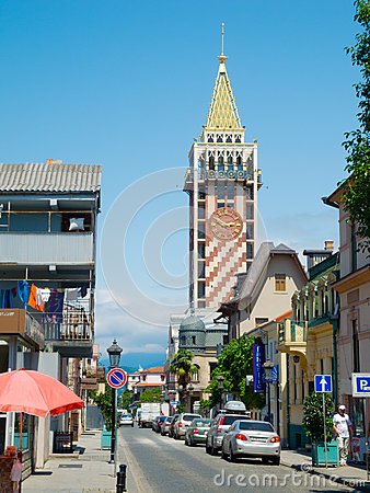 Piazza tower in Batumi Editorial Stock Image
