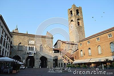 Piazza Vecchia Editorial Photography