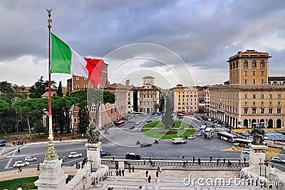 Piazza Venezia, Rome Editorial Image