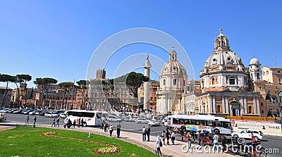 Piazza Venezia, Rome Editorial Photo