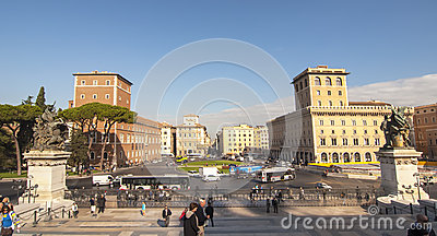 Piazza Venezia, Rome Editorial Photo