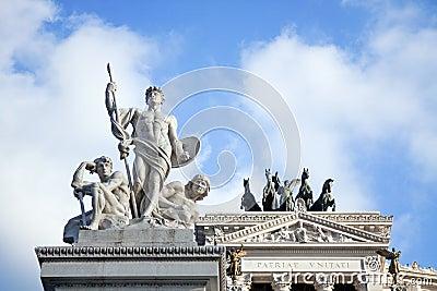 Piazza Venezia in Rome, detail.