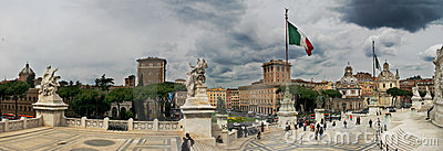 Piazza Venezia and Victor Emmanuel II Monument.
