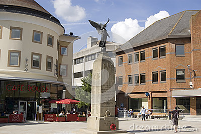 Piazza, Woking, Surrey Fotografia Editoriale