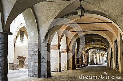 Piazzo di Biella, portico
