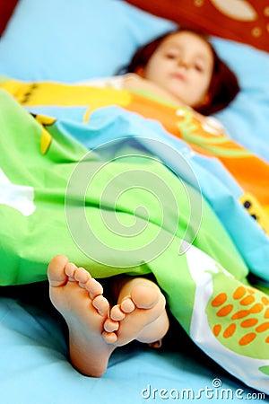 śpiąca palec